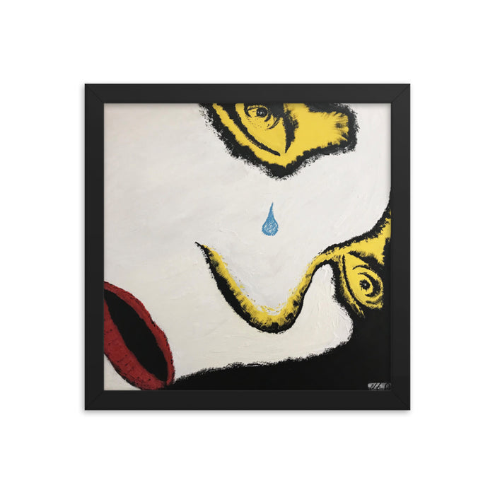 """Crying"" Framed photo paper poster - College Collections Art"