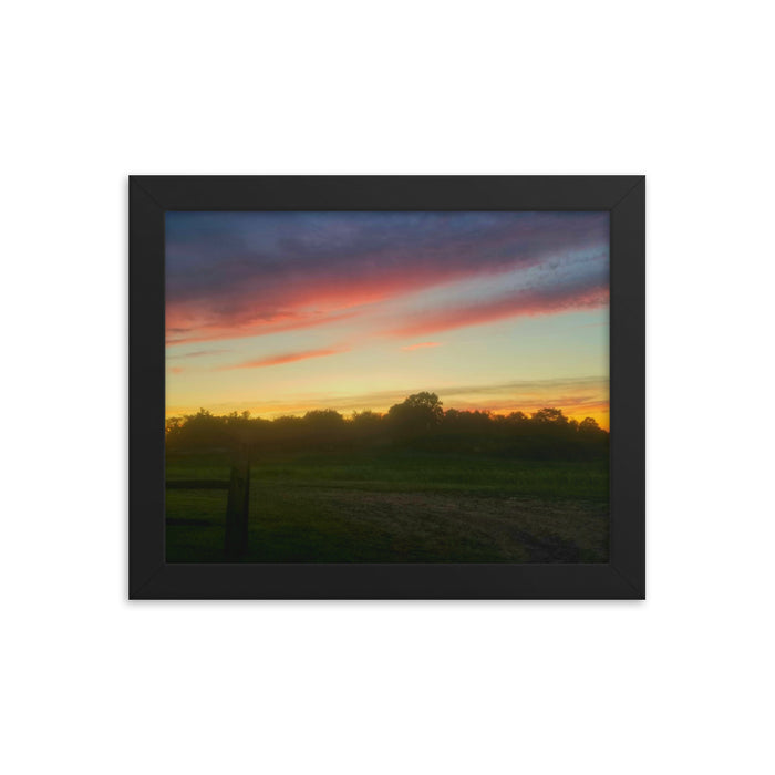 """Landscape Sunset"" Framed poster - College Collections Art"