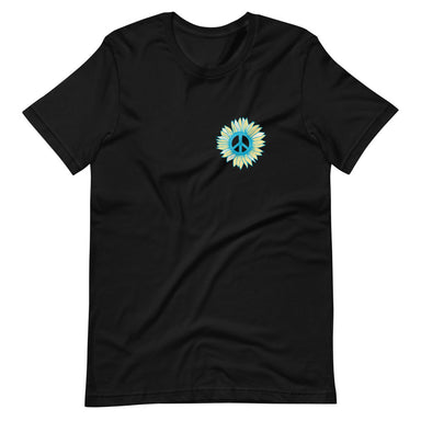 """Peace Flower"" Short-Sleeve Unisex T-Shirt - College Collections Art"