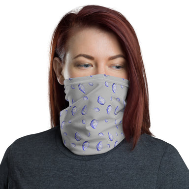 """Oysterfest Gray"" Neck Gaiter - College Collections Art"