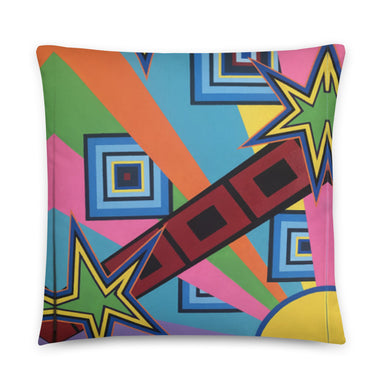 """New Wave"" Basic Pillow - College Collections Art"