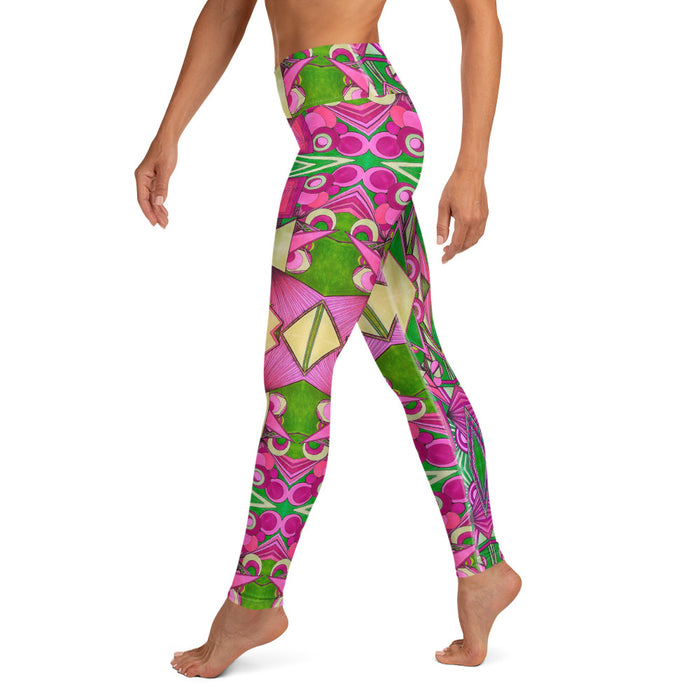 """Geo Therapy Six"" Yoga Leggings - College Collections Art"
