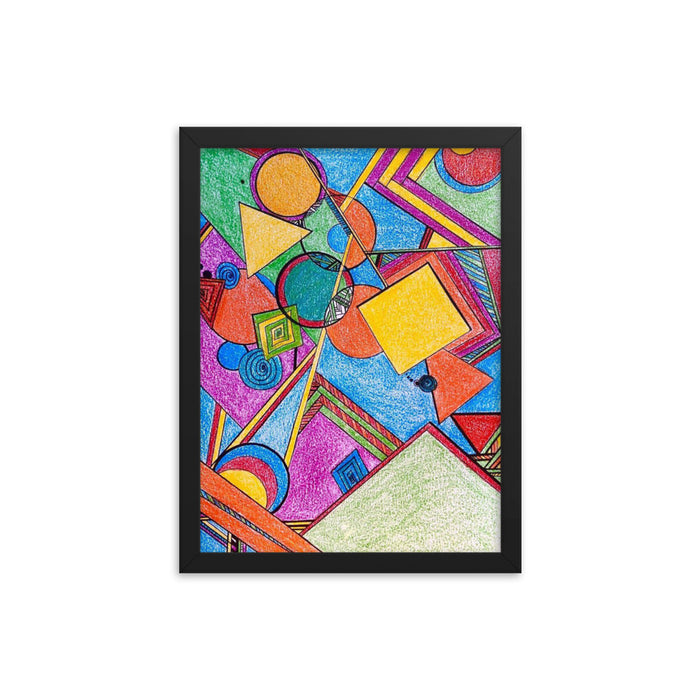 """Geo Therapy Seven"" Framed poster - College Collections Art"