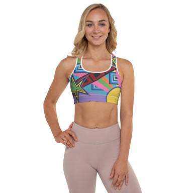 """New Wave"" Padded Sports Bra - College Collections Art"