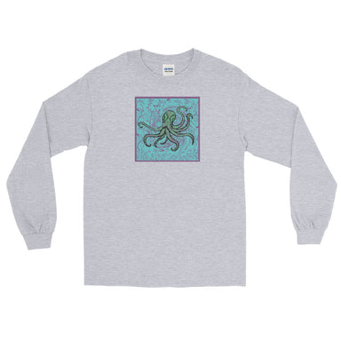 """Octopus"" Men's Long Sleeve Shirt - College Collections Art"