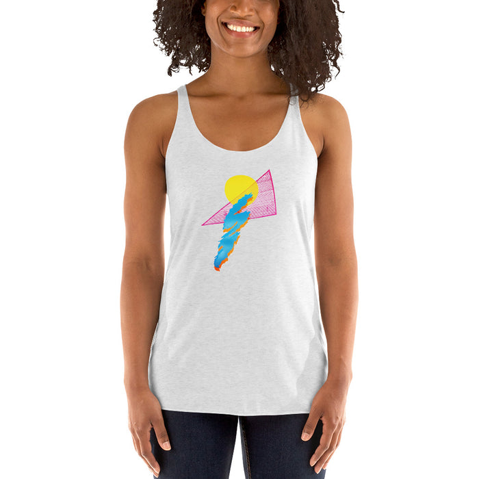 """Shapes"" Women's Racerback Tank - College Collections Art"
