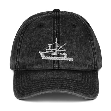 """Fishing Boat"" Vintage Cap - College Collections Art"