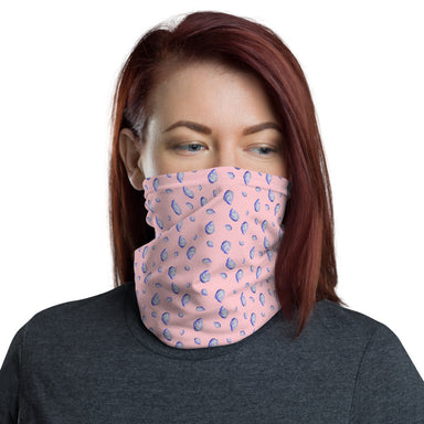 """Oysterfest Pink"" Neck Gaiter - College Collections Art"