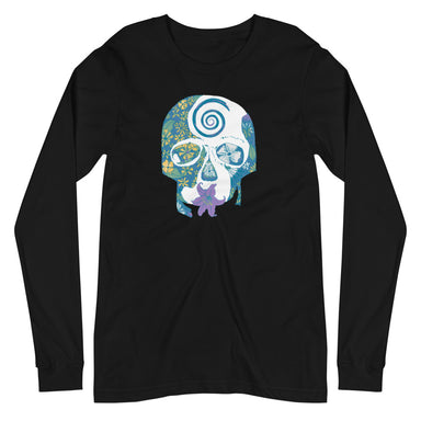 """Tropical Skull"" Unisex Long Sleeve Tee - College Collections Art"