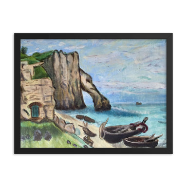 """Beach Landscape"" Framed poster - College Collections Art"