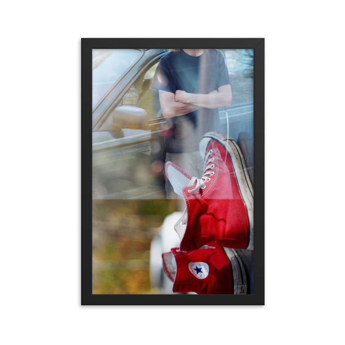 """Stu's Shoes"" Original Film Photography - Framed Print - College Collections Art"
