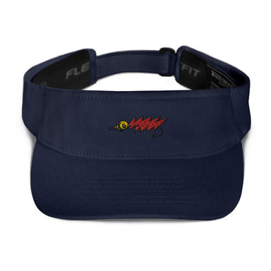 """Red Fly"" Visor - College Collections Art"