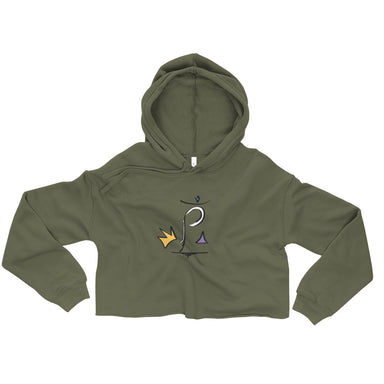 """King P""Crop Hoodie - College Collections Art"