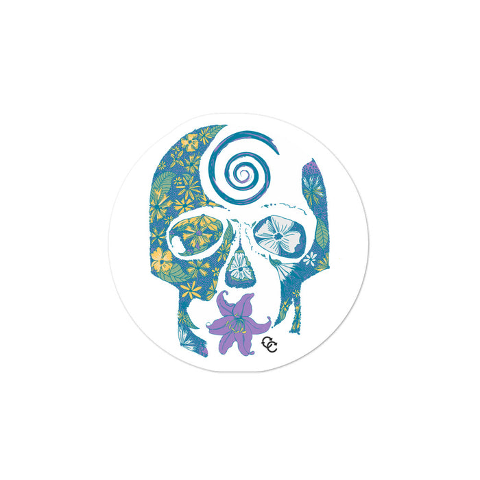 """Tropical Skull"" Bubble-free stickers - College Collections Art"