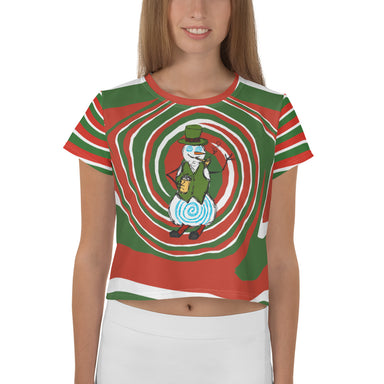 Holiday Vibe Print Crop Tee - College Collections Art