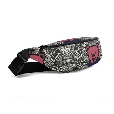 """Dead Bear Zen Tangle"" Fanny Pack - College Collections Art"