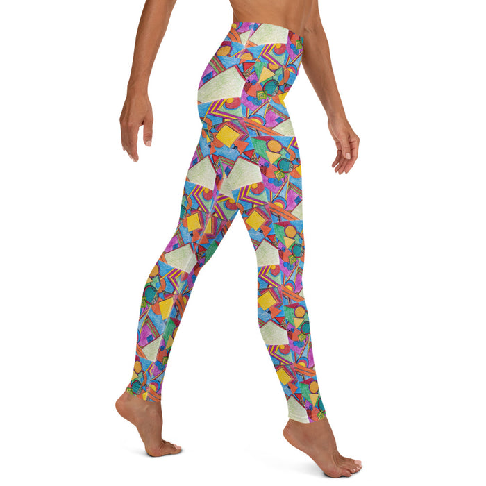 """Geo Therapy Seven"" Yoga Leggings - College Collections Art"
