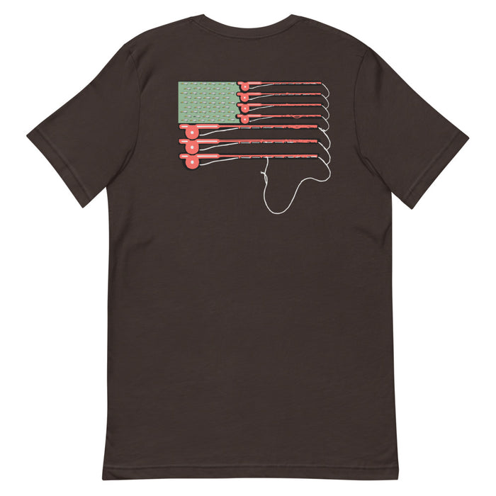 """Fishing Pole Flag"" Tee - College Collections Art"