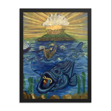 """Fish Tales"" Framed poster - College Collections Art"