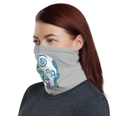 """Tropical Skull"" Neck Gaiter - College Collections Art"