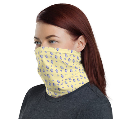 """Oysterfest Yellow"" Neck Gaiter - College Collections Art"