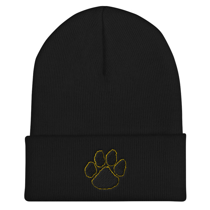 Tiger Paw Cuffed Beanie - College Collections Art