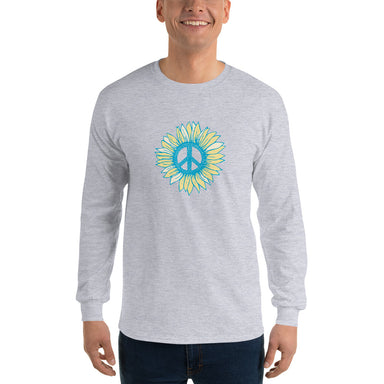 """Peace-flower"" Long Sleeve Shirt - College Collections Art"