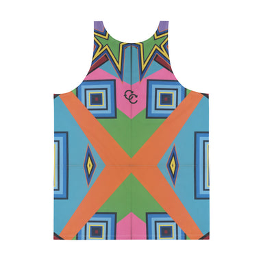 """New Wave"" Unisex Tank Top - College Collections Art"