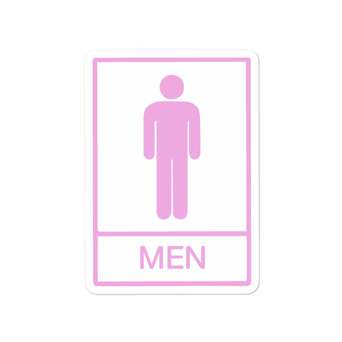 """Men"" Bubble-free stickers - College Collections Art"