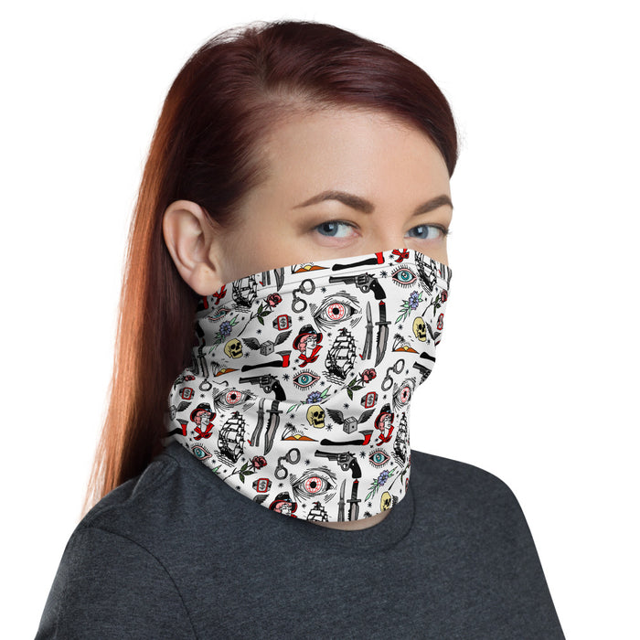 """Pirates Life"" Neck Gaiter - College Collections Art"