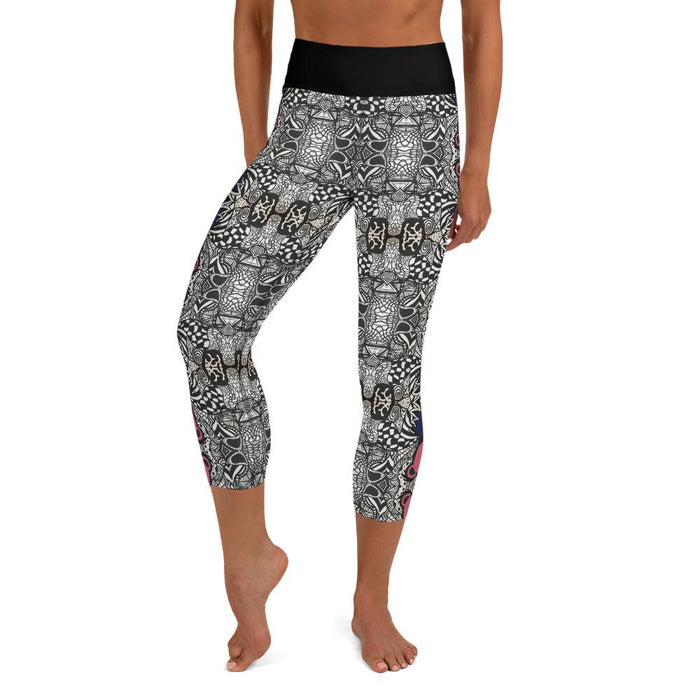 """Dead Bear Zen Tangle"" Leggings - College Collections Art"