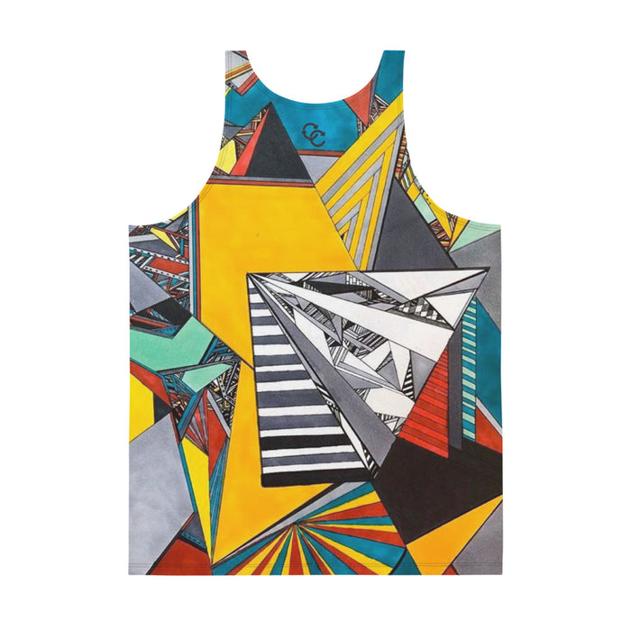 """Geo Therapy Two"" Unisex Tank Top - College Collections Art"