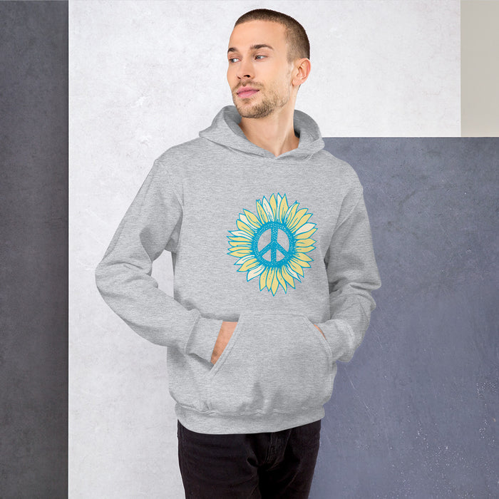 """Peace-flower"" Unisex Hoodie - College Collections Art"