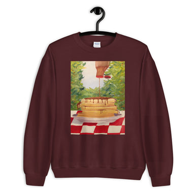 """Pancakes"" Unisex Sweatshirt - College Collections Art"