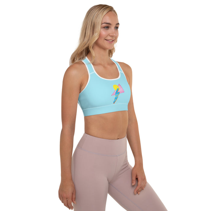 """Shapes"" Padded Sports Bra - College Collections Art"