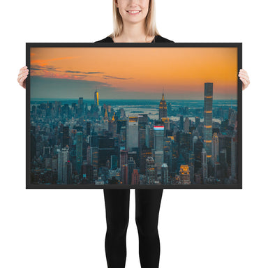 Top Down Middle Framed poster - College Collections Art
