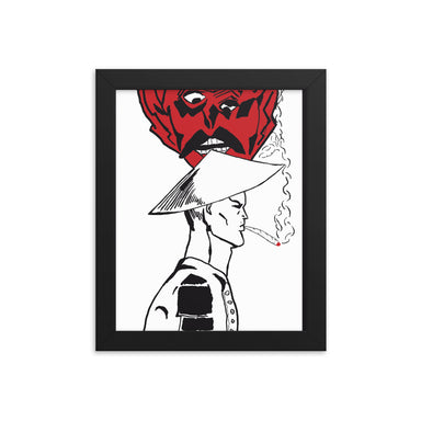 """The Smokin Devil"" Print Framed poster - College Collections Art"