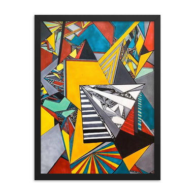 """Geo Therapy Two"" Framed poster - College Collections Art"