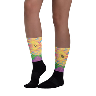 """Mushroom Mania"" Socks - College Collections Art"