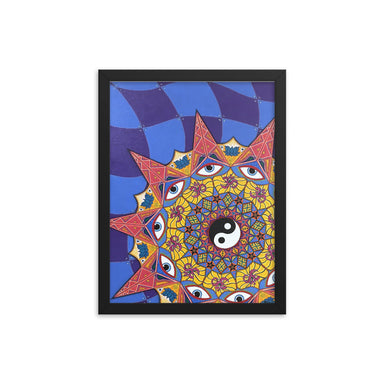 """Polarity"" Print Framed poster - College Collections Art"