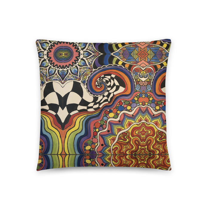 """Zenfuldelic"" Basic Pillow - College Collections Art"