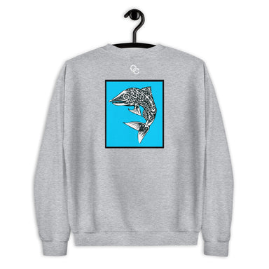 """Rough Waters"" Unisex Sweatshirt - College Collections Art"