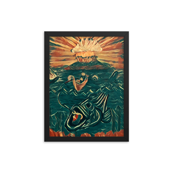 """Fish Tales Digital"" Framed poster - College Collections Art"