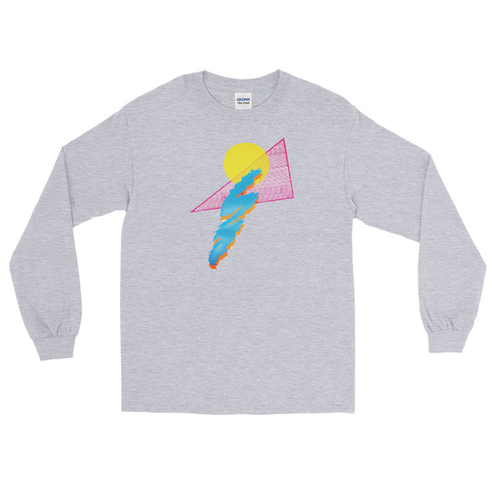 """Shapes"" Men's Long Sleeve Shirt - College Collections Art"