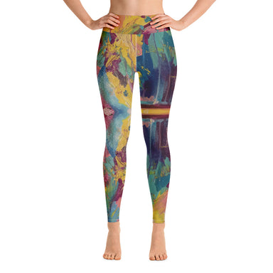 """It Wasn't Always Given"" Yoga Leggings - College Collections Art"