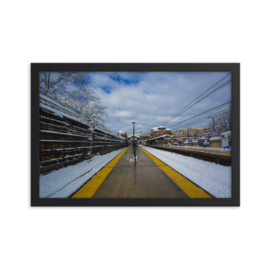 """Snowy Station"" Framed poster - College Collections Art"