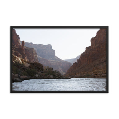 """Hazy Canyon Evening"" Framed poster - College Collections Art"