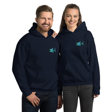 """Grateful-Shark"" Unisex Hoodie - College Collections Art"