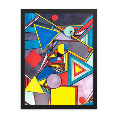 """Geo Therapy Eight"" Framed poster - College Collections Art"