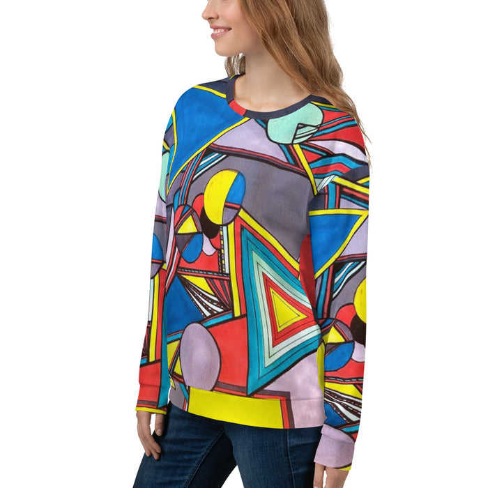 """Geo Therapy Eight"" Unisex Sweatshirt - College Collections Art"